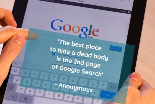 The best place to hide a dead body is the 2nd page of google search - Optimazing