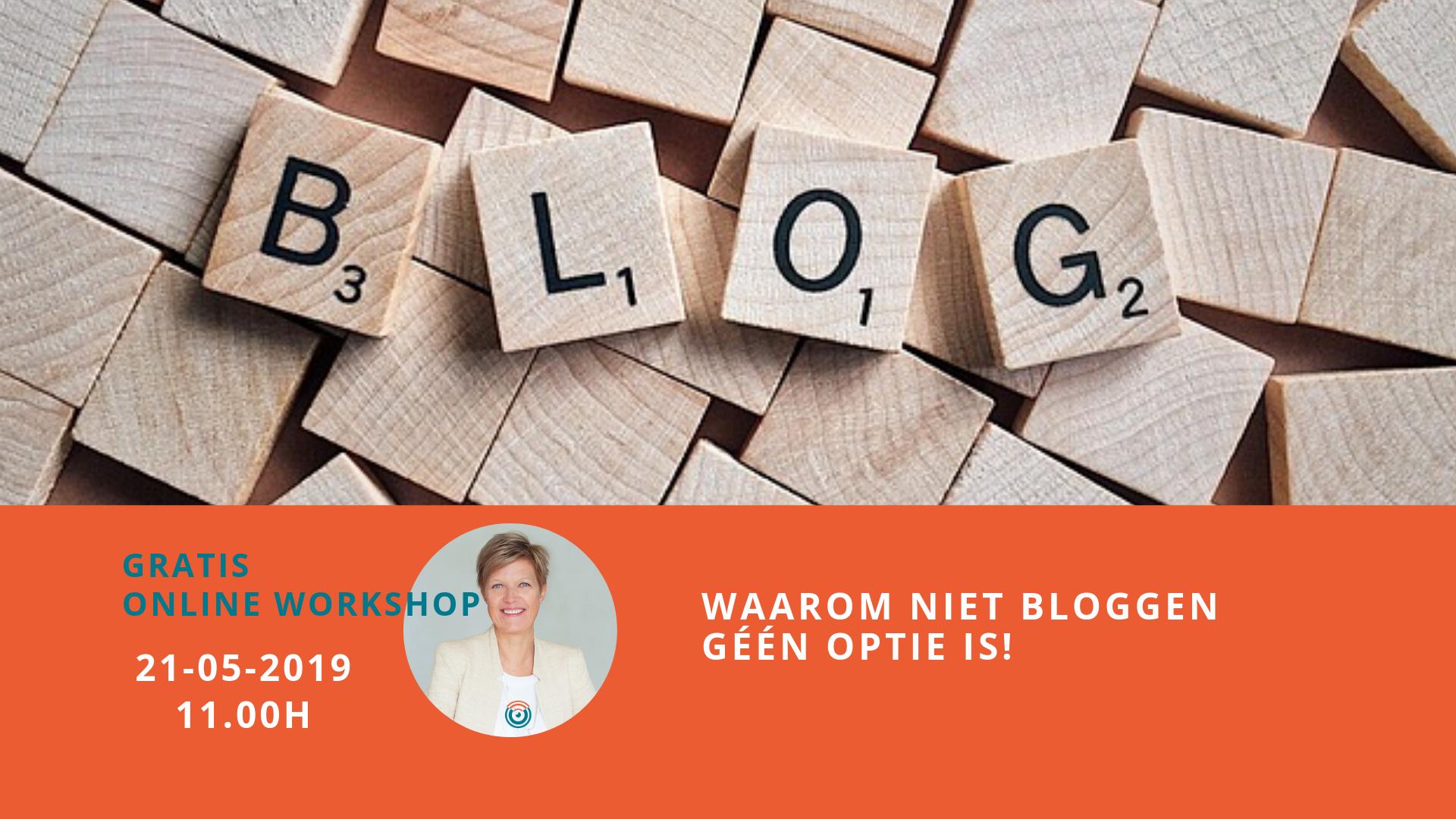 Webinar Bloggen 21 mei 2019 Optimazing