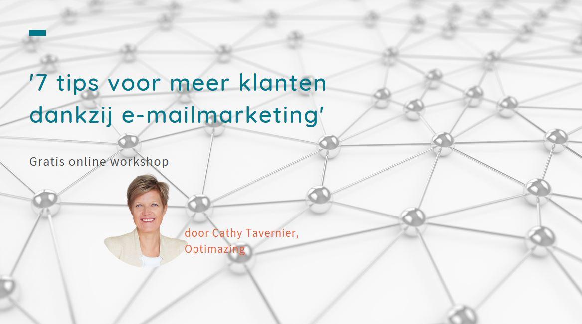 Webinar - 7 tips voor meer klanten dankzij e-mailmarketing