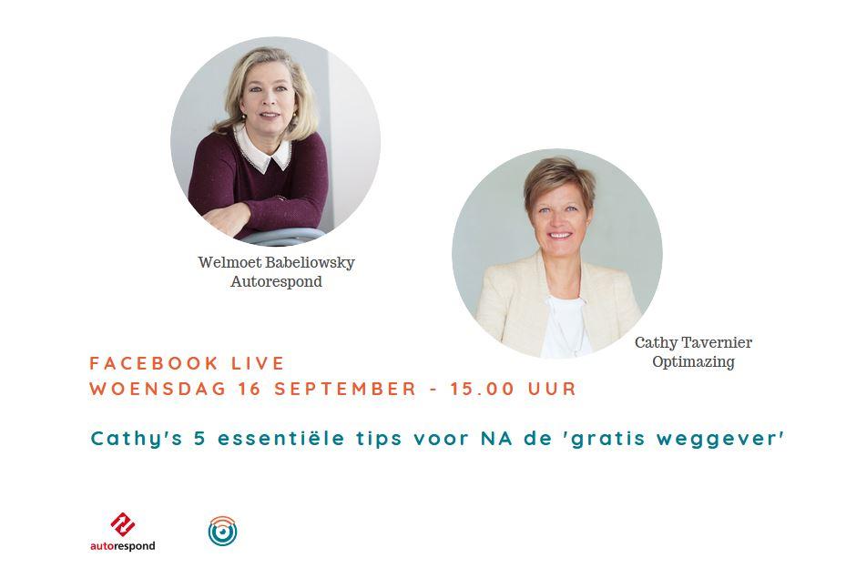 Facebook live uitzending met Welmoet Babeliowsky van AutoRespond!